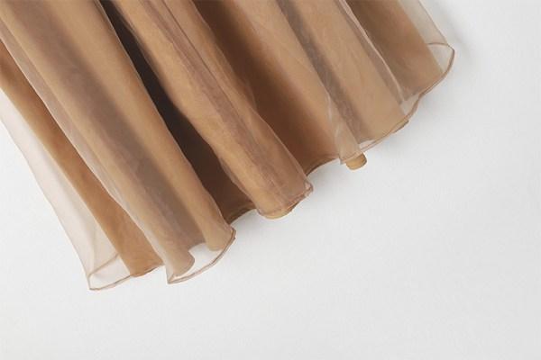 Brown Ruffled Top and Skirt Set | Ko Moon‑Young – It's Okay Not To Be Okay