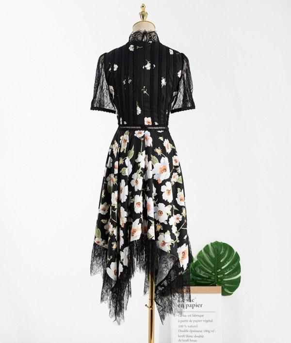 Irregular Cut Hem Floral Dress  | Ko Moon‑Young – It's Okay Not To Be Okay