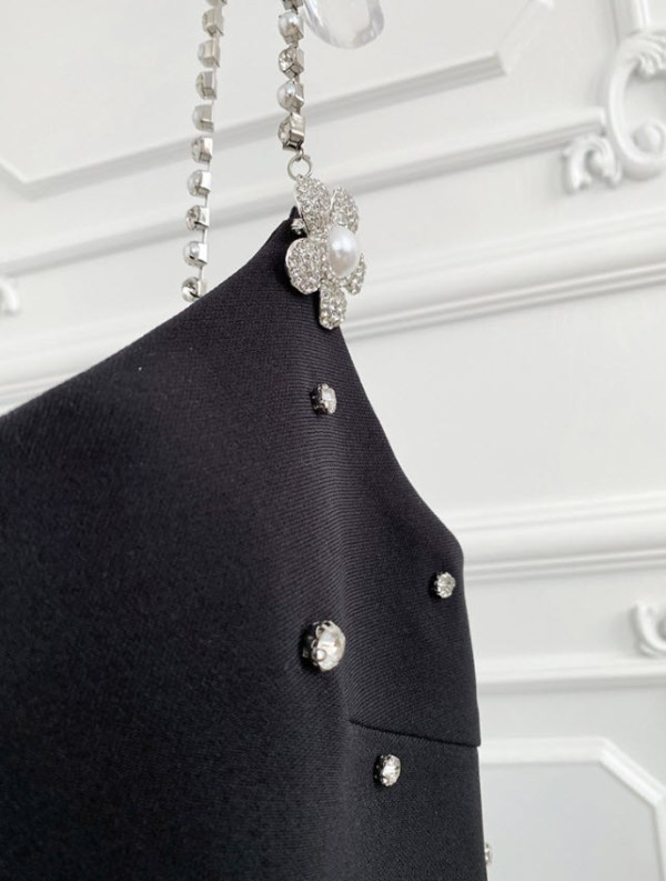 Black Sling Dress With Crystal Details   Ko Moon‑Young – It's Okay Not To Be Okay