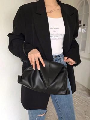 Lisa – BlackPink Black Envelope Clutch Bag (2)