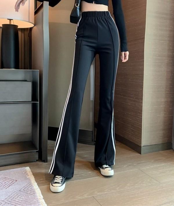 Black Flared Track Pants | Lisa – BlackPink