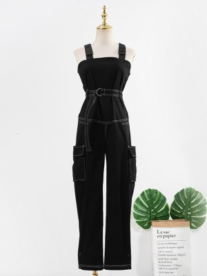 Rose – BlackPink Black Overall With Belt (14)
