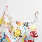 Graffiti Printed Sling Dress | Rose – BlackPink