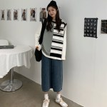 Contrast Stitching Striped Vest | Sa Hye-Jun – Record Of Youth