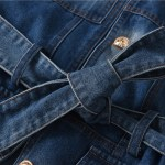 Patchwork Denim Belted Jacket   Sa Hye-Jun – Record Of Youth
