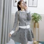 Houndstooth Patterned Cardigan And Skirt Set | Vivi – Loona