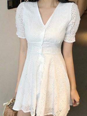 Yeojin – Loona White V-neck Mini Dress (12)