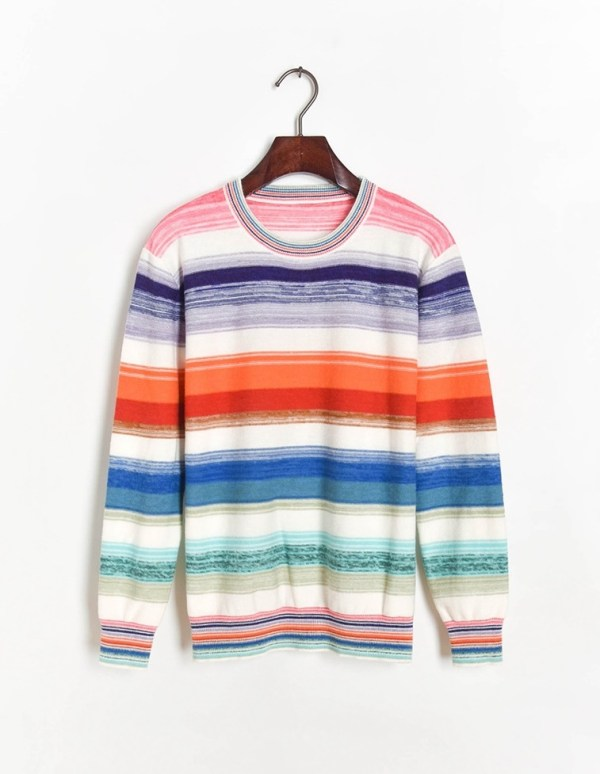 Colorful Striped Sweater | Hoshi – Seventeen