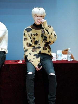 Leopard Patterned Sweater | Hyungwon  – MONSTA X