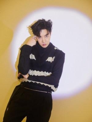 KT~ BTS J HOPE GREEN GOLD CHEVERON PRINT BLAZER COAT TOP SHIRT FITS BARBIE G