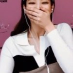 White Fitted Colorblock Shirt | Jennie – BlackPink
