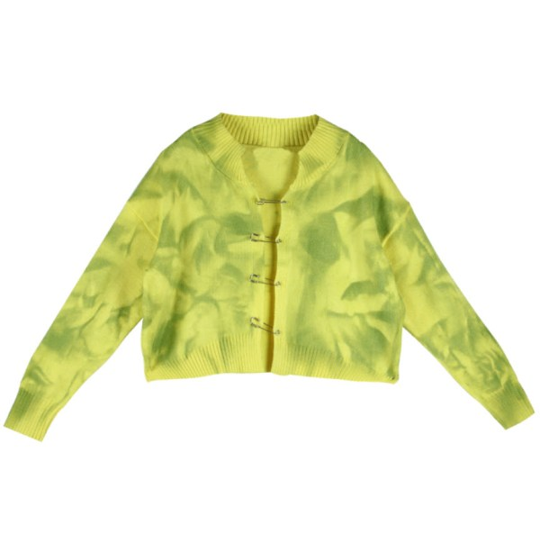 Tie-Dye Knitted Cardigan With Safety Pins | Jisoo -BlackPink