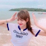 """Chicago 1980"" White  T-Shirt 