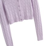 Lilac Knitted Cardigan | Yeri – Red Velvet