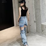 Inner Cut-out Ringed Denim Jeans | Hweein – Mamamoo
