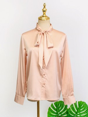 IU – Hotel Del Luna Apricot Silk Shirt (2)