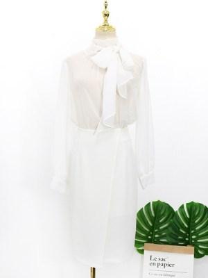 IU – Hotel Del Luna White Bow Collar Blouse (4)