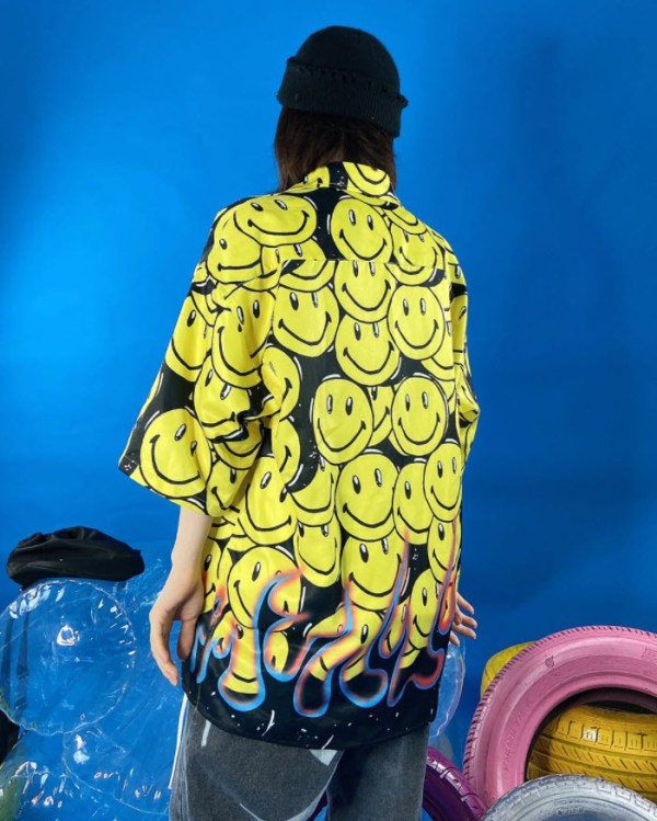 Smiley And Bottom Fire Shirt | J-Hope – BTS