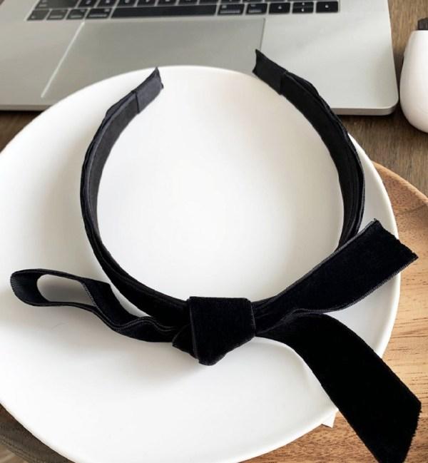 Black Velvet Bow Headband   Jennie – BlackPink