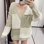 Knitted Colorblock Sweater   Jennie – BlackPink