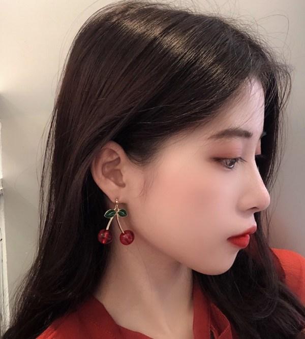 Red Cherry Earrings | Jisoo – BlackPink