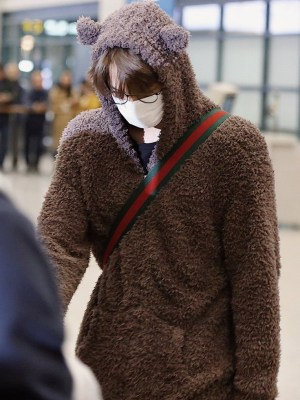 Cute Bear Hooded Jacket  | Kai – EXO