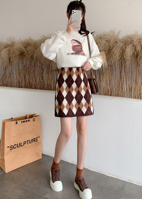 Argyle Patterned Skirt | Lisa – BlackPink