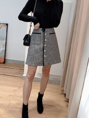 Lisa Fine Houndstooth Patterned Skirt (2)