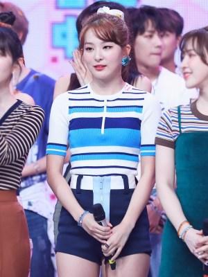 Navy Blue High Waist Shorts | Seulgi – Red Velvet