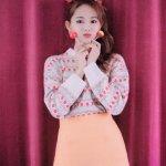 Red Daisy Pattern Sweater   Tzuyu – Twice