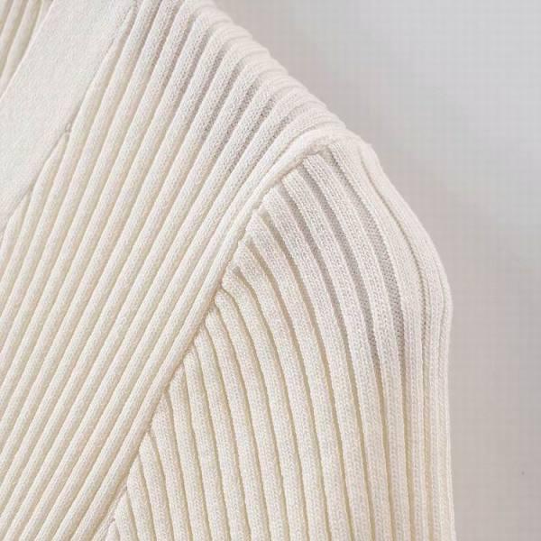 White Short Sleeve V-Neck Cardigan   Tzuyu – Twice