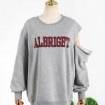 One Side Cut Albright Grey Sweatshirt | Hyuna
