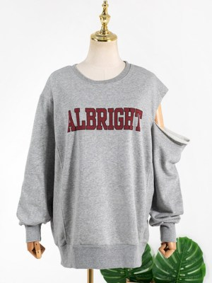 Hyuna One Side Cut Albright Grey Sweatshirt (1)
