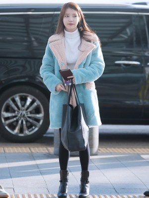 Blue Lamb Wool Coat | IU