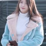 Blue Lamb Wool Coat | IU