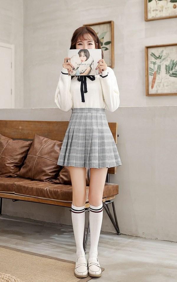 Contrast Stripe Patterned Knee-High Socks   Jimin – BTS