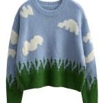 Cute Cloud Knitted Sweater   Jisoo – BlackPink