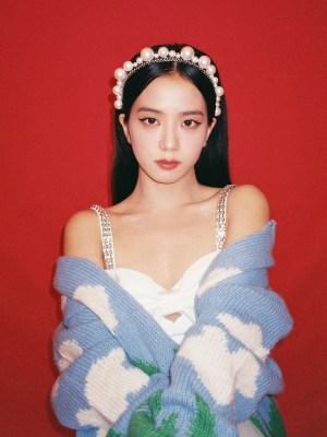 White Pearl Embellished Headband | Jisoo – BlackPink