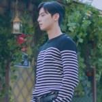 Black Stripe Patterned Sweater | Lee Su Ho – True Beauty
