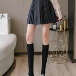 Grey Pleated Plaid Skirt | Lisa -BlackPink