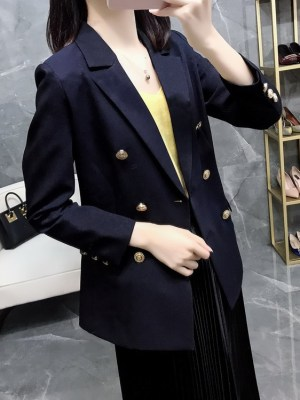 Lisa -BlackPink Navy Blue Suit Jacket (15)