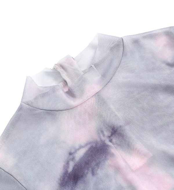 Tie-Dye Mesh Top | Lisa -BlackPink