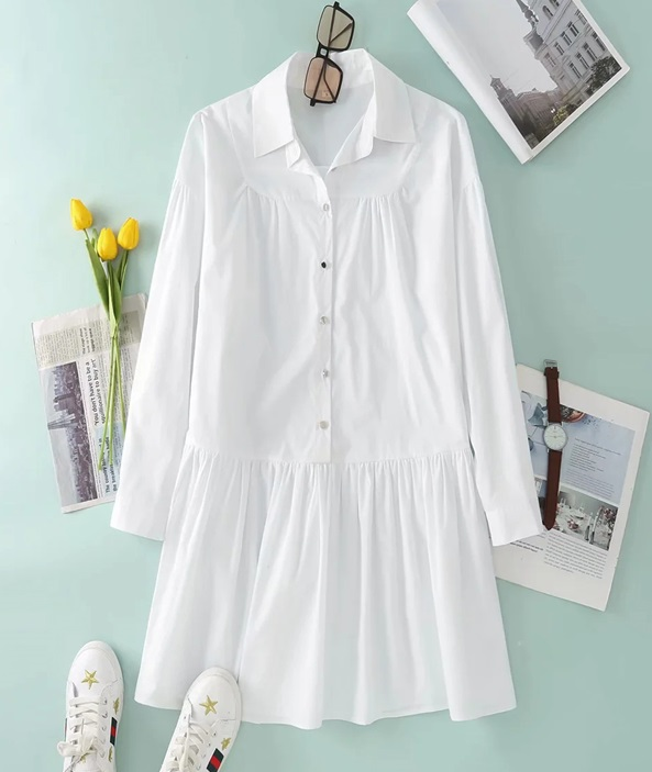 White Shirt Dress | Oh Mi Joo – Run On