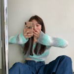 Gradient Knit Cropped Sweater | Rose – BlackPink