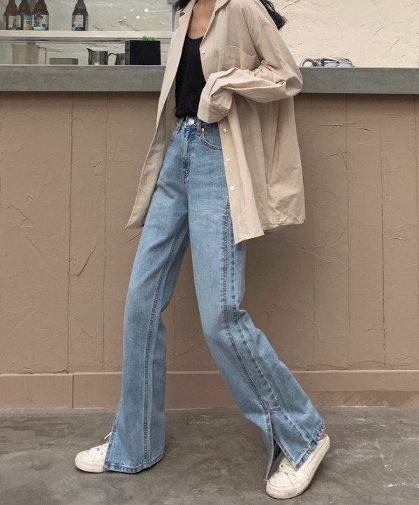 Side Slit Wide-Leg Jeans | Ryujin – ITZY