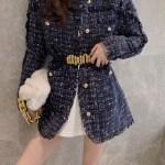 Blue Tweed Fringe Jacket | Shuhua – (G)I-DLE