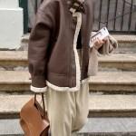 Brown Leather Wool Lining Jacket | Han Seo Jun – True Beauty