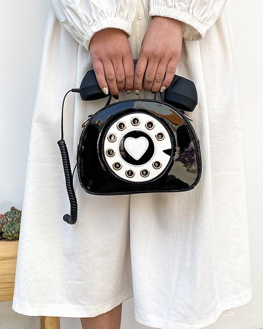 Pink Retro Telephone Sling Bag   Hyuna