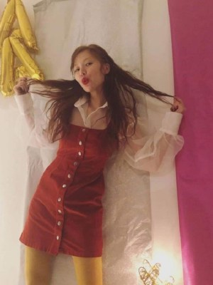 Red Corduroy Dress | Hyuna