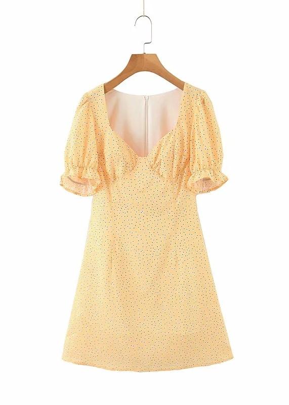 Yellow Puff Sleeve Mini Dress | Hyuna